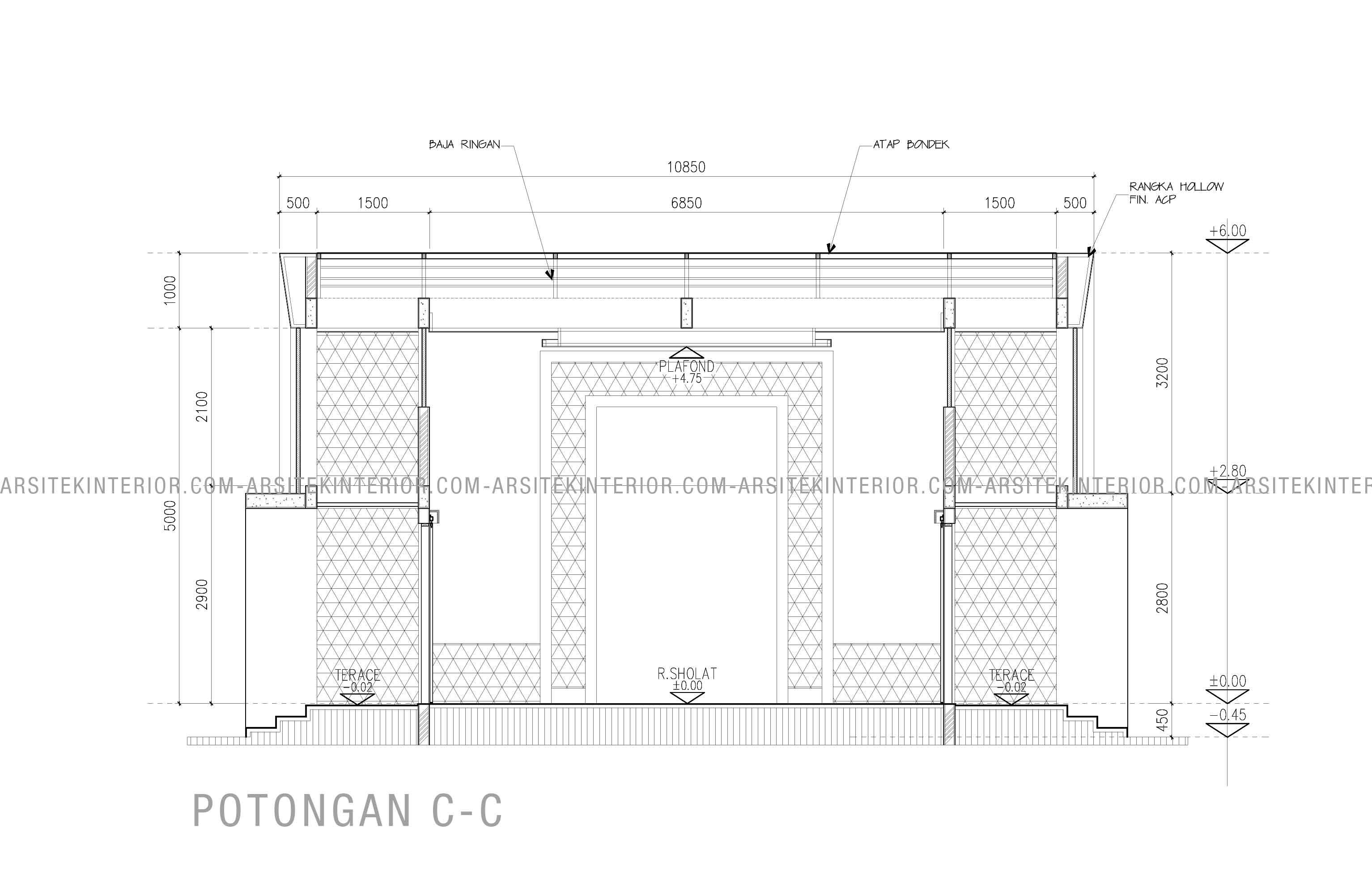 Jasa Desain Interior Mesjid Minimalis Ukuran Bangunan 10x10 Gratis
