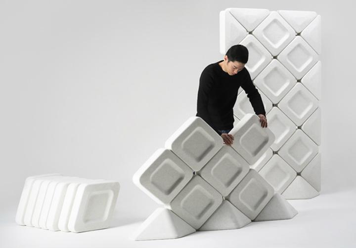 [news] Partisi Akuistik Interior Dengan Bentuk Modern Dari Bahan Daur Ulang Serat Botol