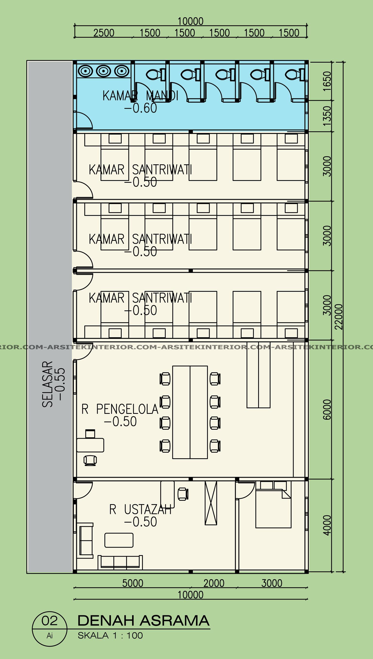 Jasa Arsitek Desain Kompleks Pondok Pesantren Asrama Musholla Dilahan Terbatas Gratis Download Gambar Dan Ukuran