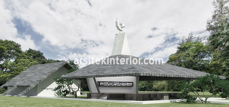 Jasa Arsitek Desain Kompleks Pondok Pesantren (Asrama, Musholla) dilahan Terbatas, Gratis Download Gambar dan Ukuran