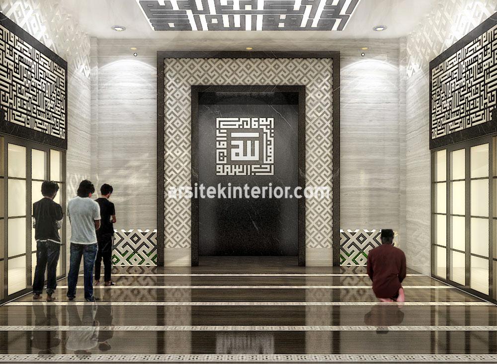 Jasa Desain Interior Mesjid Musholla Style Modern Minimalis Ukuran Bangunan 10×10 Gratis