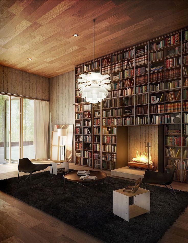 News – Ide desain rak buku di interior rumah anda