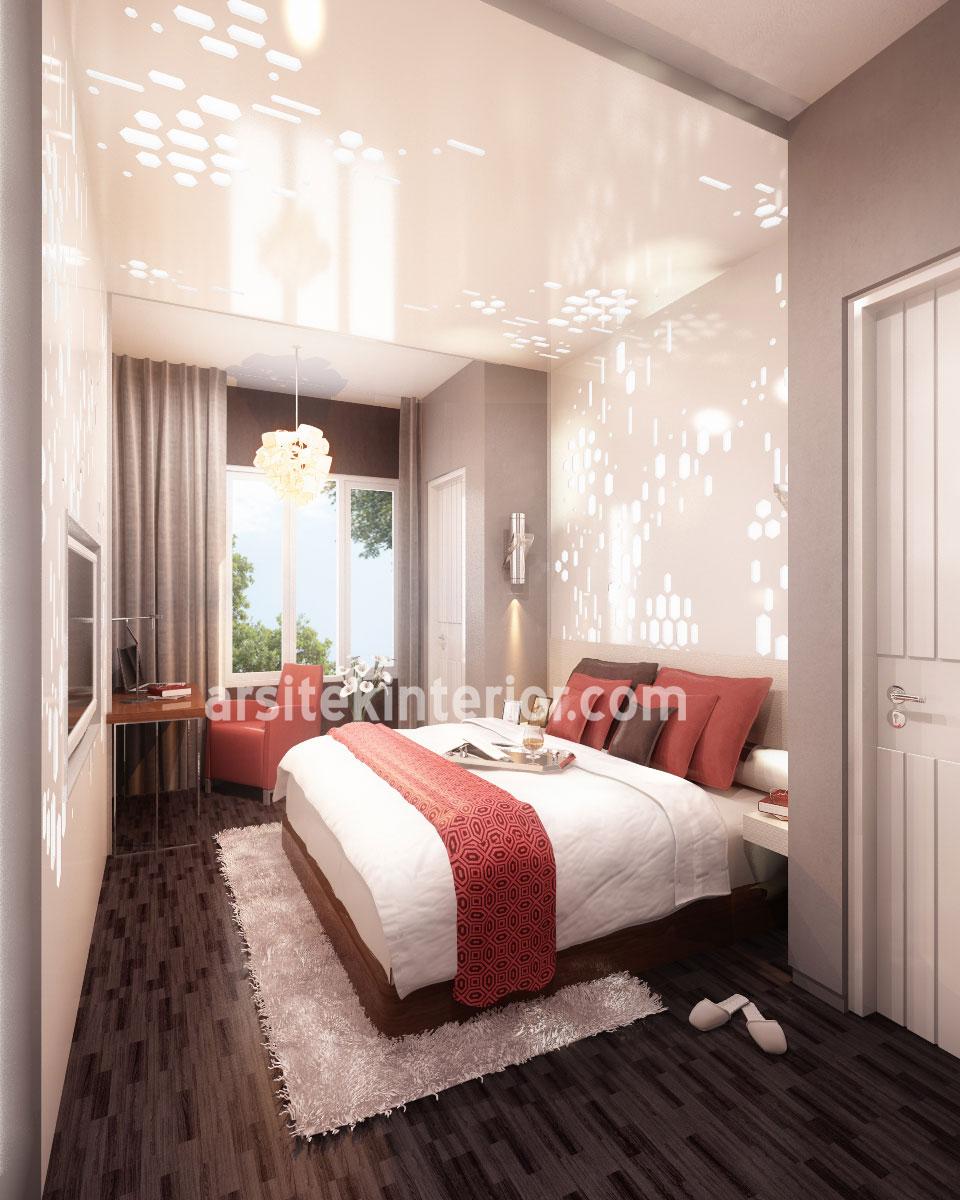 desain interior kamar tidur ukuran kecil terbaru yang sederhana