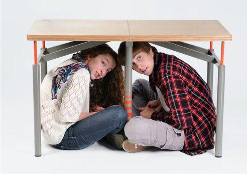[news] Inilah Desain Meja Sekolah Untuk Berlindung Dari Gempa Bumi