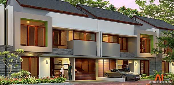 Desain Townhouse Narawangsa Residence