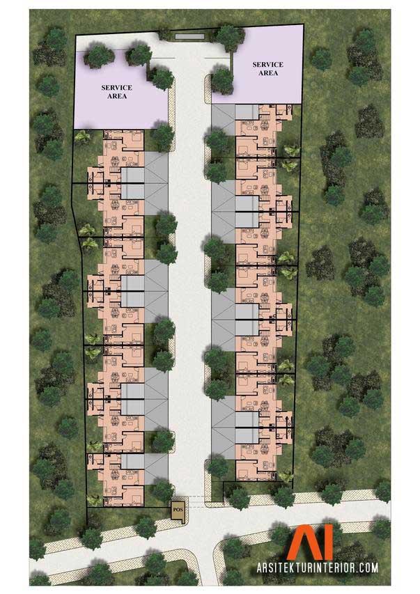 Siteplan Townhouse Narawangsa Residence