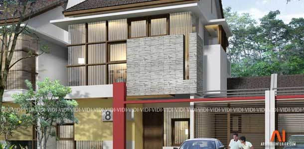 desain rumah minimalis 2 lantai type 150 200